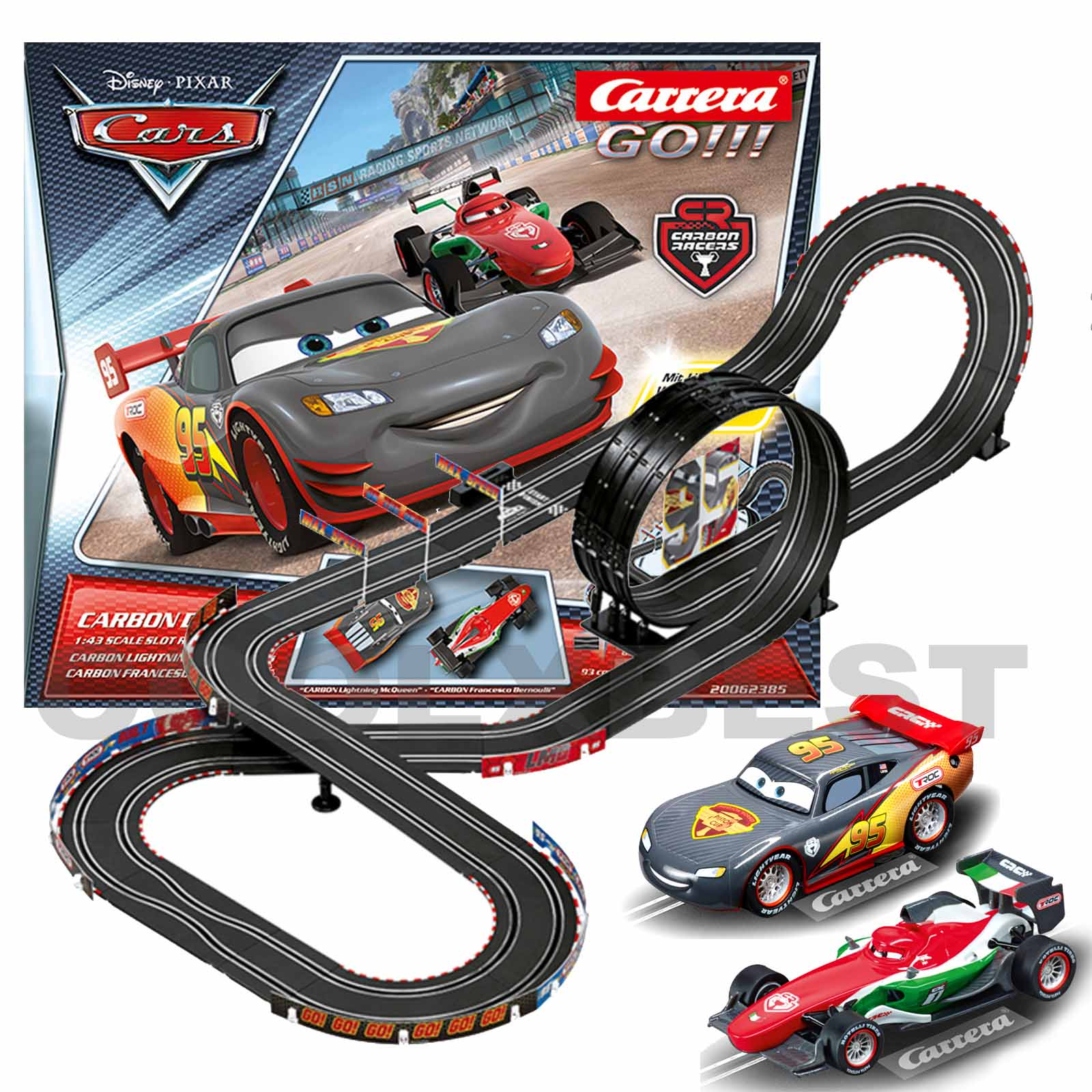 Disney Cars  Slot Car Set