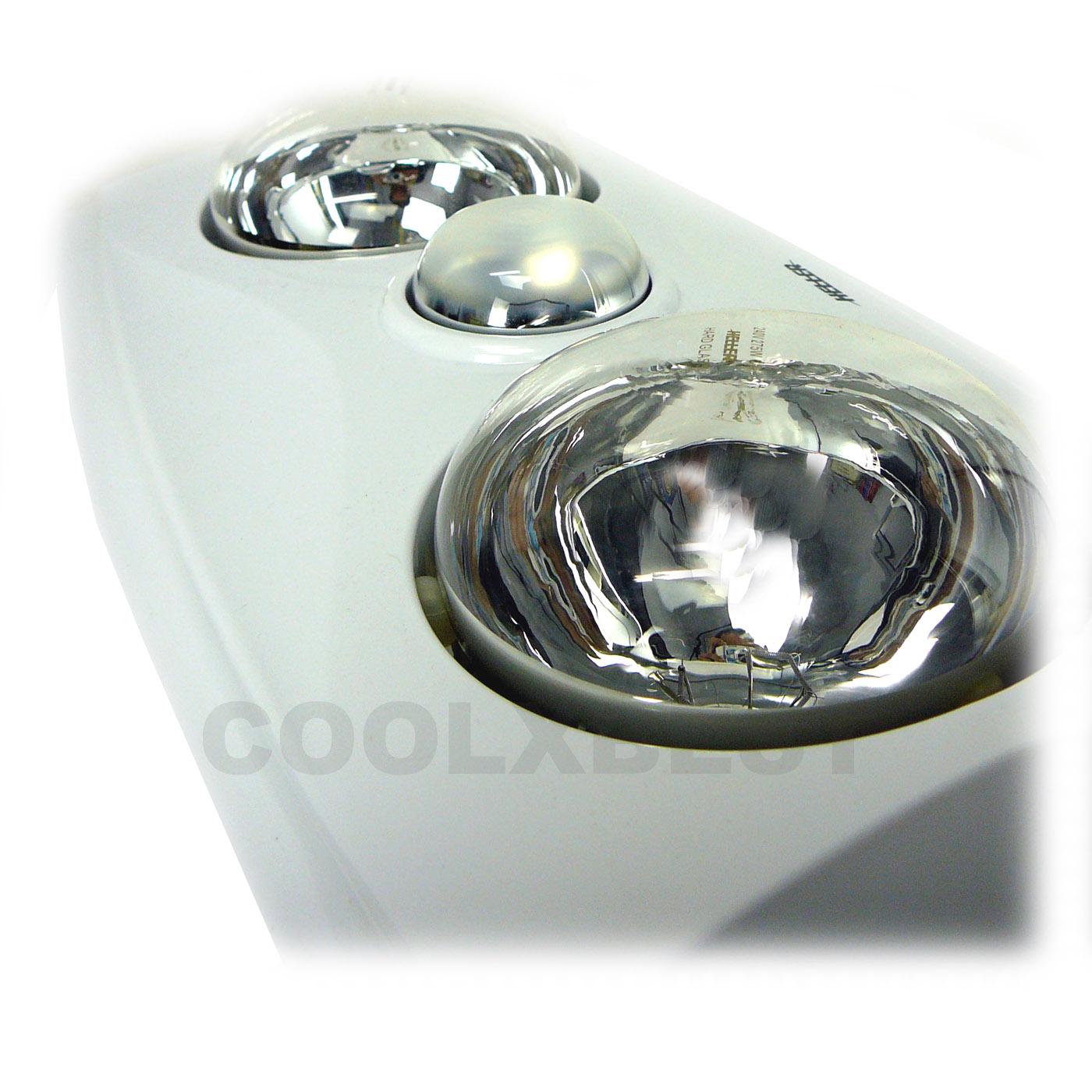 Heller Modern 3 In 1 Bathroom Heater Heat Lamp Fan Light