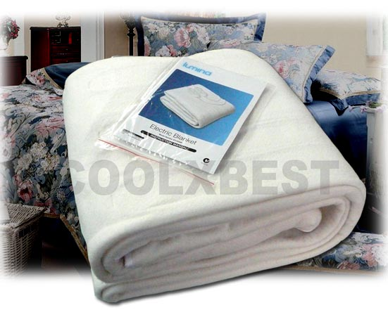 New King Size Fitted Electric Blanket W Dual Control