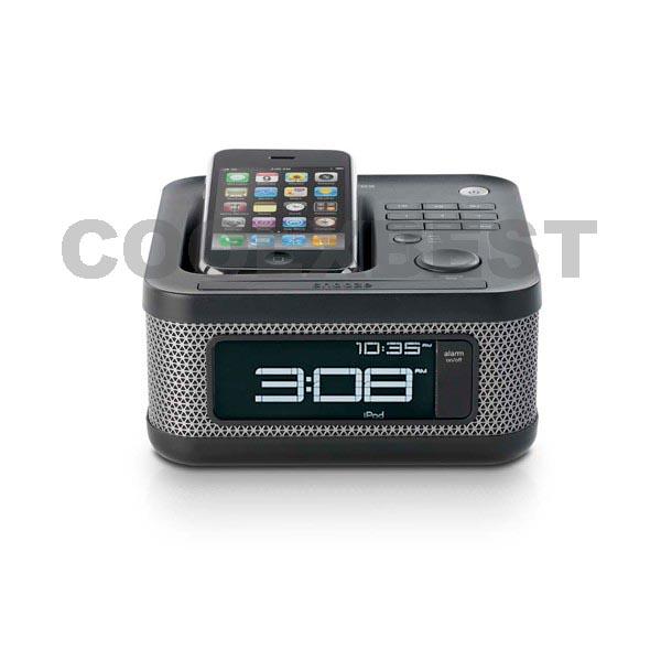 memorex reveil alarm clock radio speaker dock for ipod iphone charge play ebay. Black Bedroom Furniture Sets. Home Design Ideas